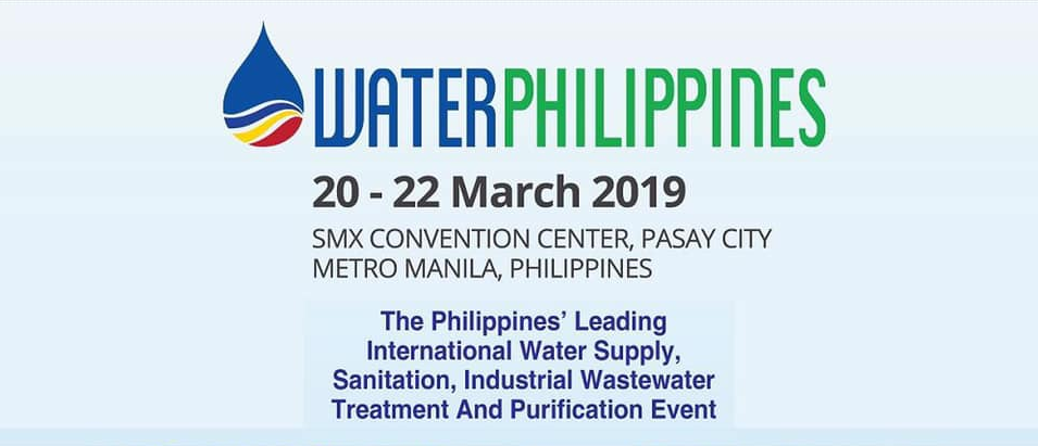 Water Philippines Expo March 20 to 22 2019
